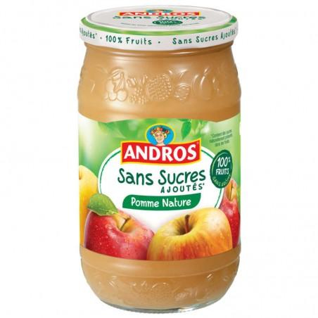 Compote pomme nature -Sans sucres ajoutés 730g ANDROS