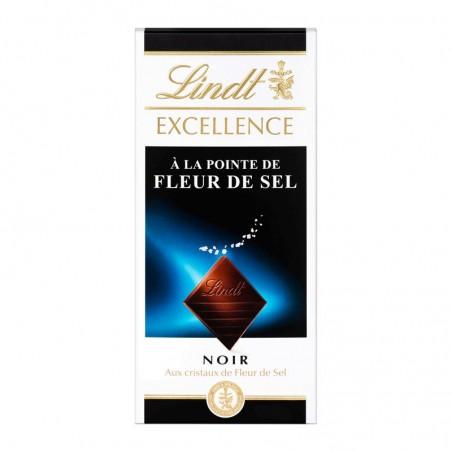 Chocolat noir aux cristaux de fleur de sel 100g LINDT