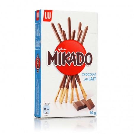 Biscuits nappés chocolat lait 90g MIKADO