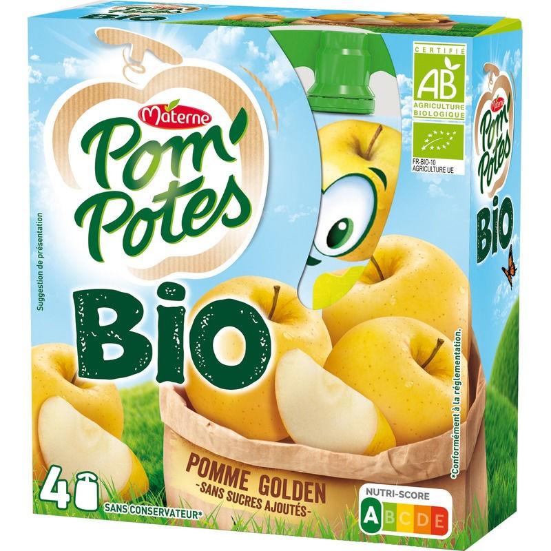 MATERNE Pom'Potes Pomme Bio 4x90g