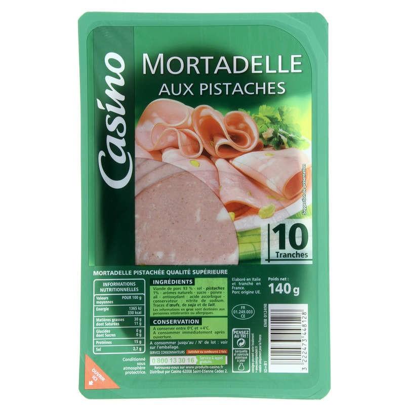 CASINO Mortadelle aux pistaches 140g